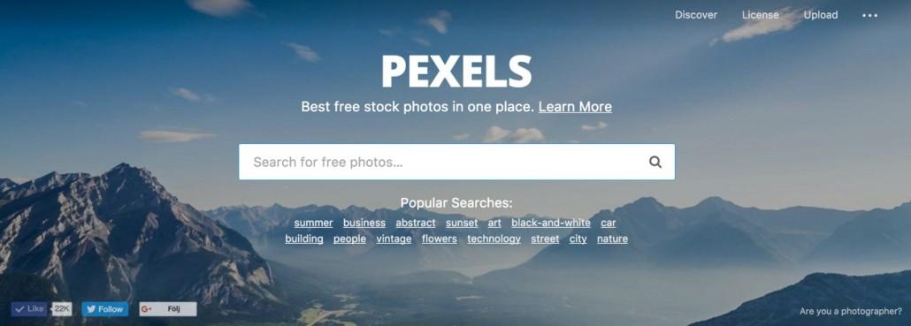 Hitta proffsiga bilder - pexels