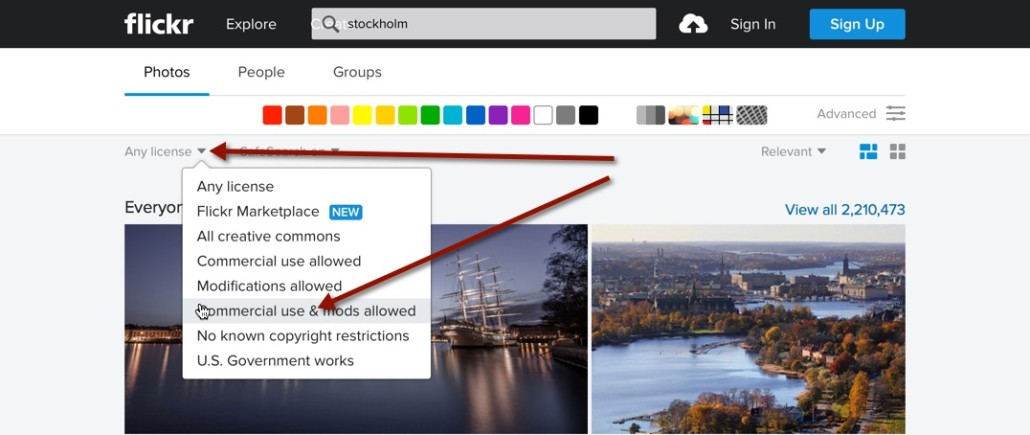 flickr search cc