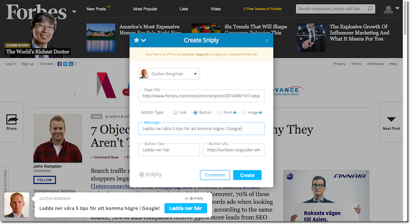 sniply-forbes-seo