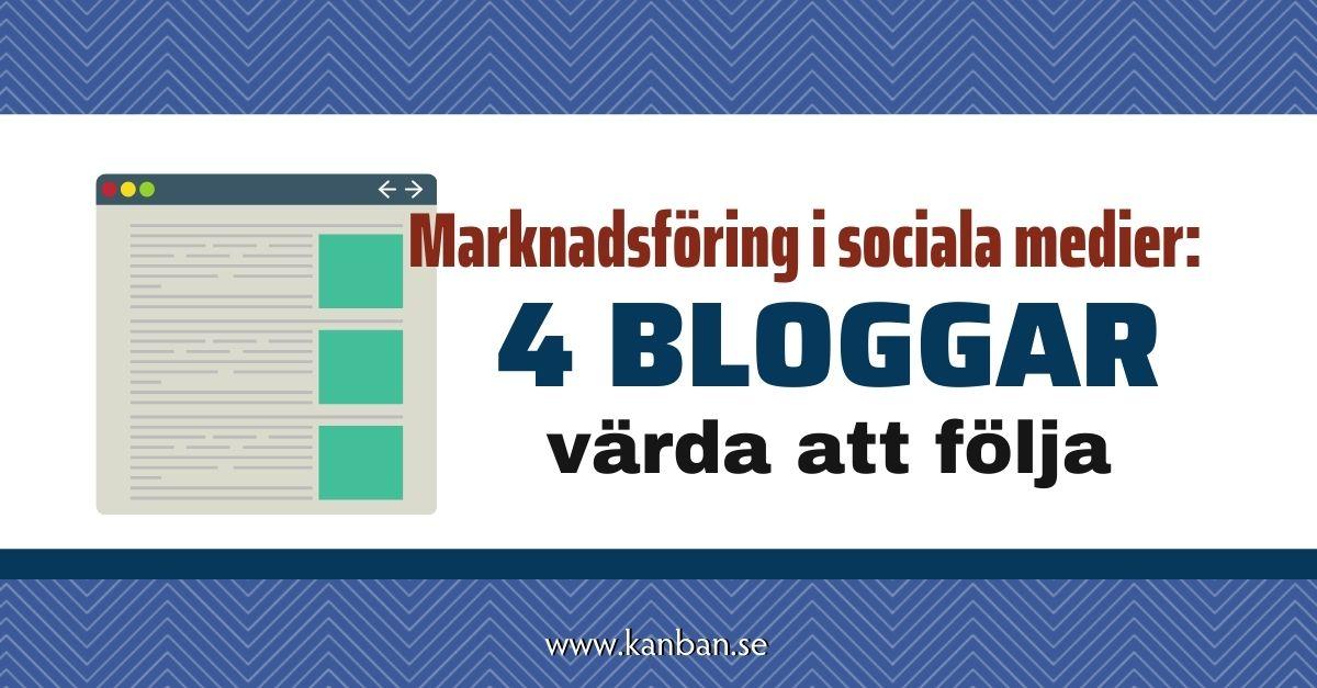 marknadsföring sociala medier bästa bloggar