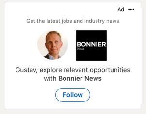 Dynamisk annons LinkedIn